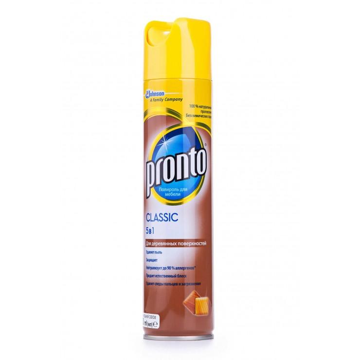 Аерозоль для чищення меблів поліроль 250мл Pronto