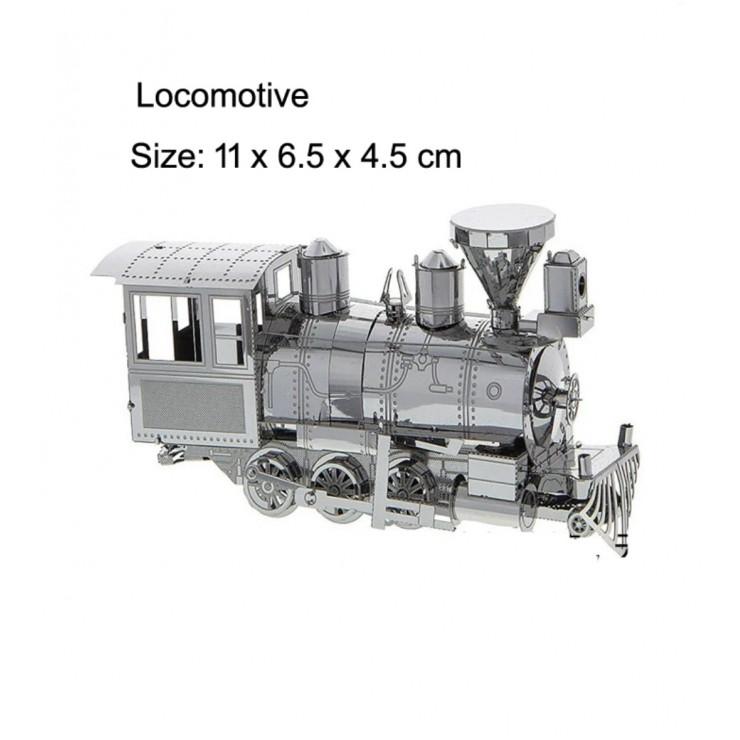 Металевий 3D-пазл локомотив
